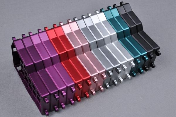 different color in aluminum anodizing
